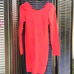 Orange dress long sleeve